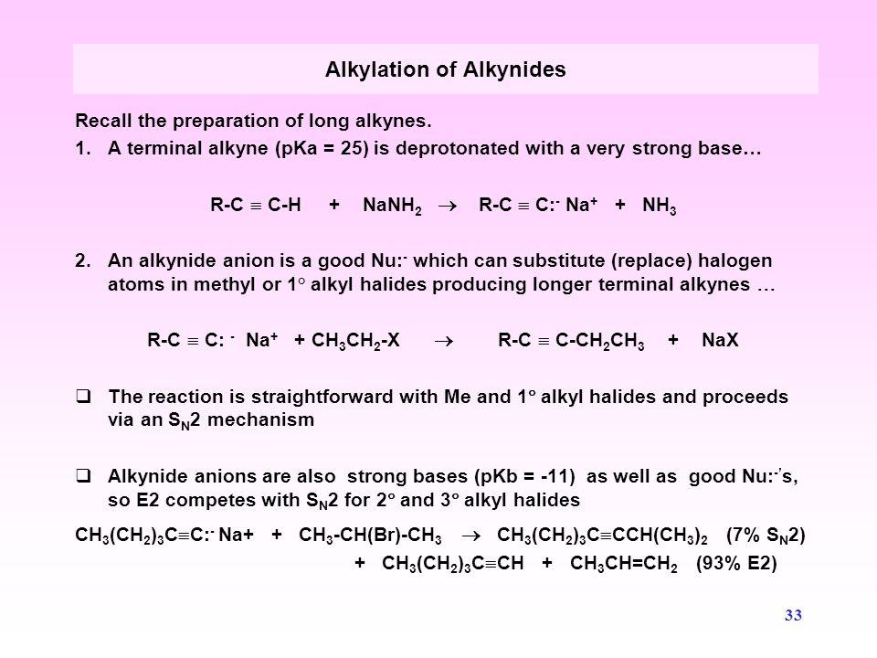 Alkylation of Alkynides