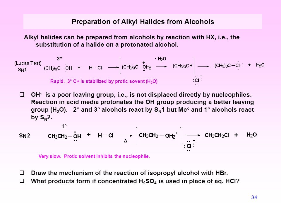Preparation of Alkyl Halides from Alcohols