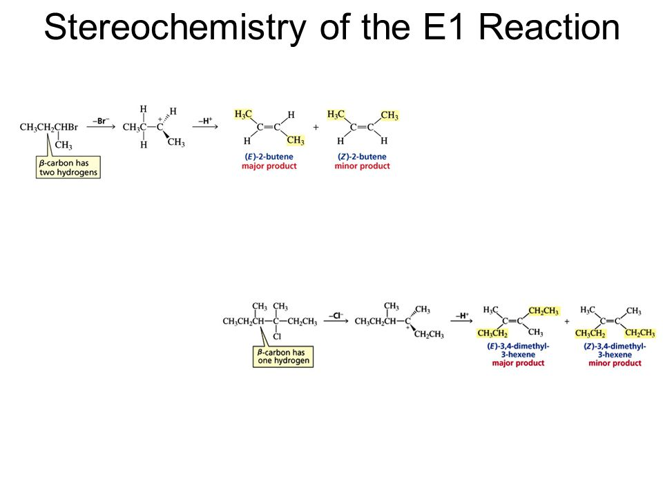 Stereochemistry of the E1 Reaction