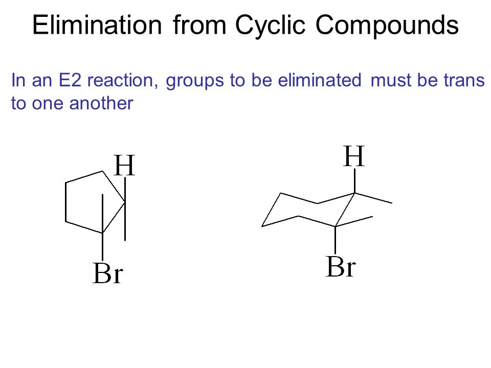 Elimination from Cyclic Compounds