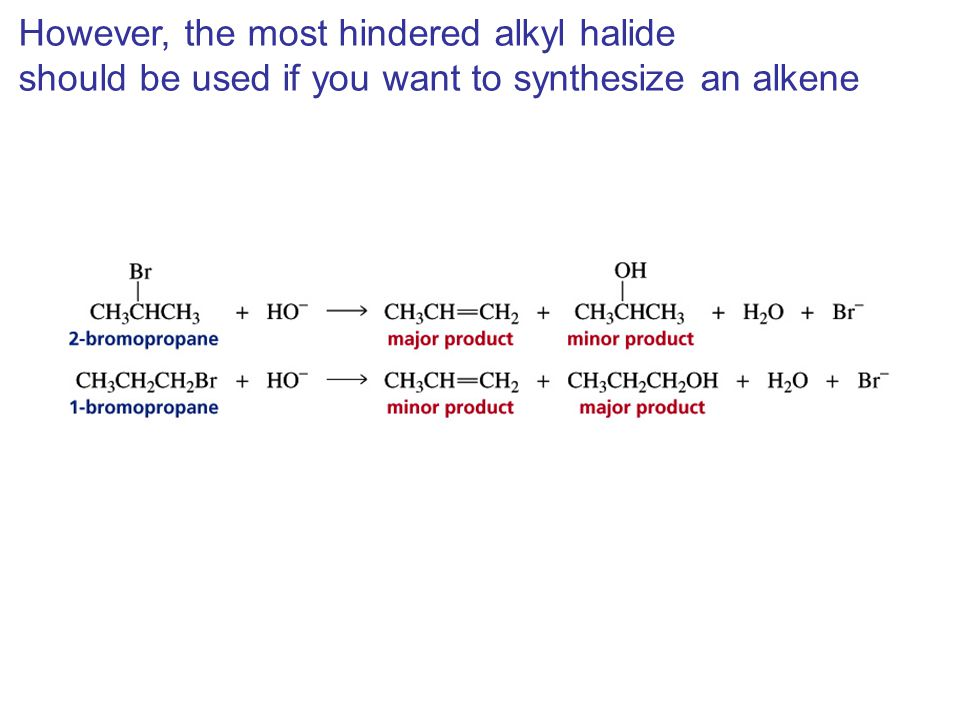 However, the most hindered alkyl halide