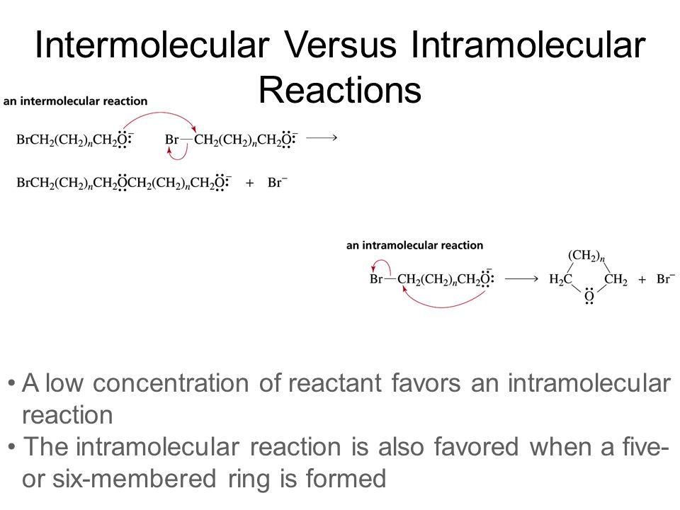 Intermolecular Versus Intramolecular Reactions