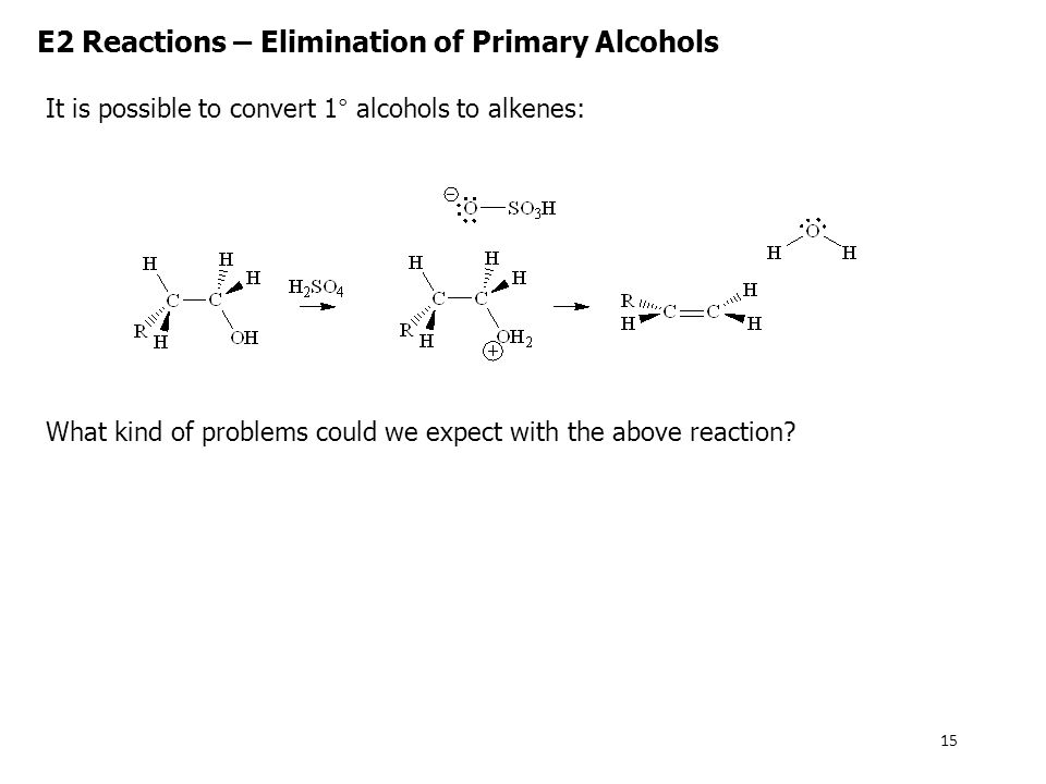 E2 Reactions – Elimination of Primary Alcohols