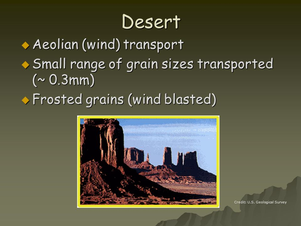 Desert Aeolian (wind) transport