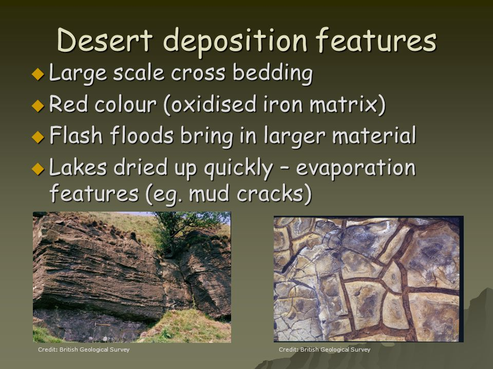 Desert deposition features