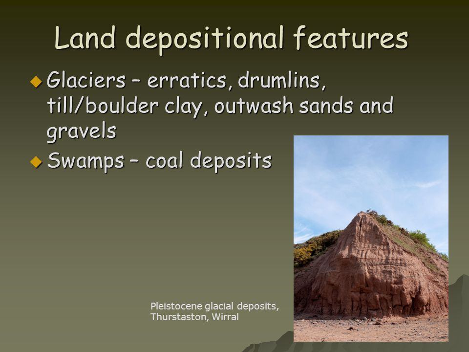 Land depositional features