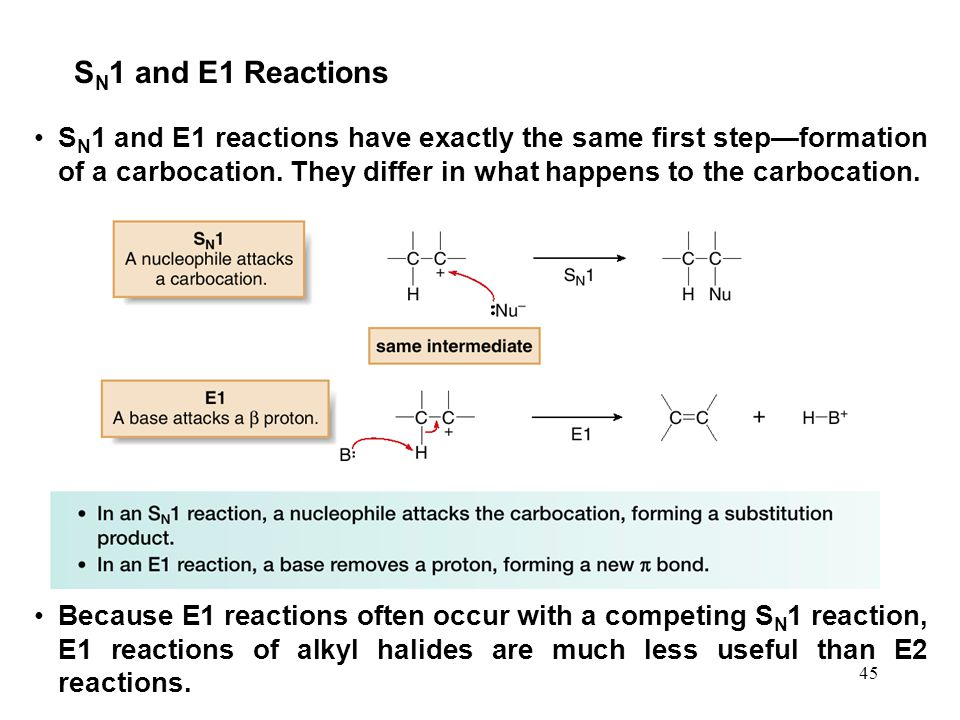 SN1 and E1 Reactions