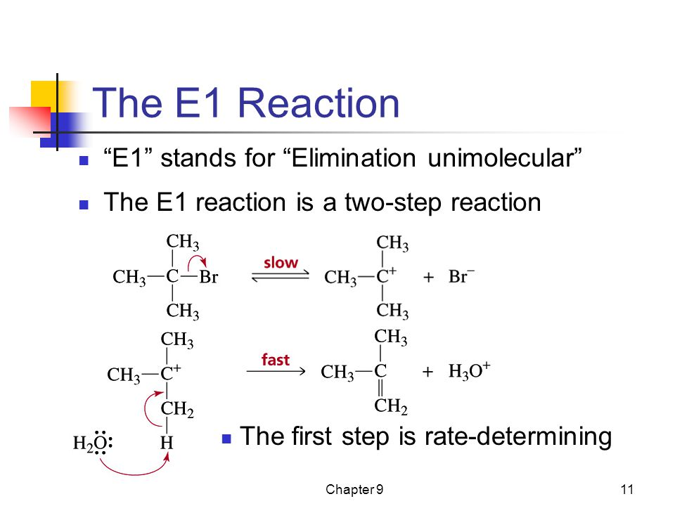 The E1 Reaction E1 stands for Elimination unimolecular