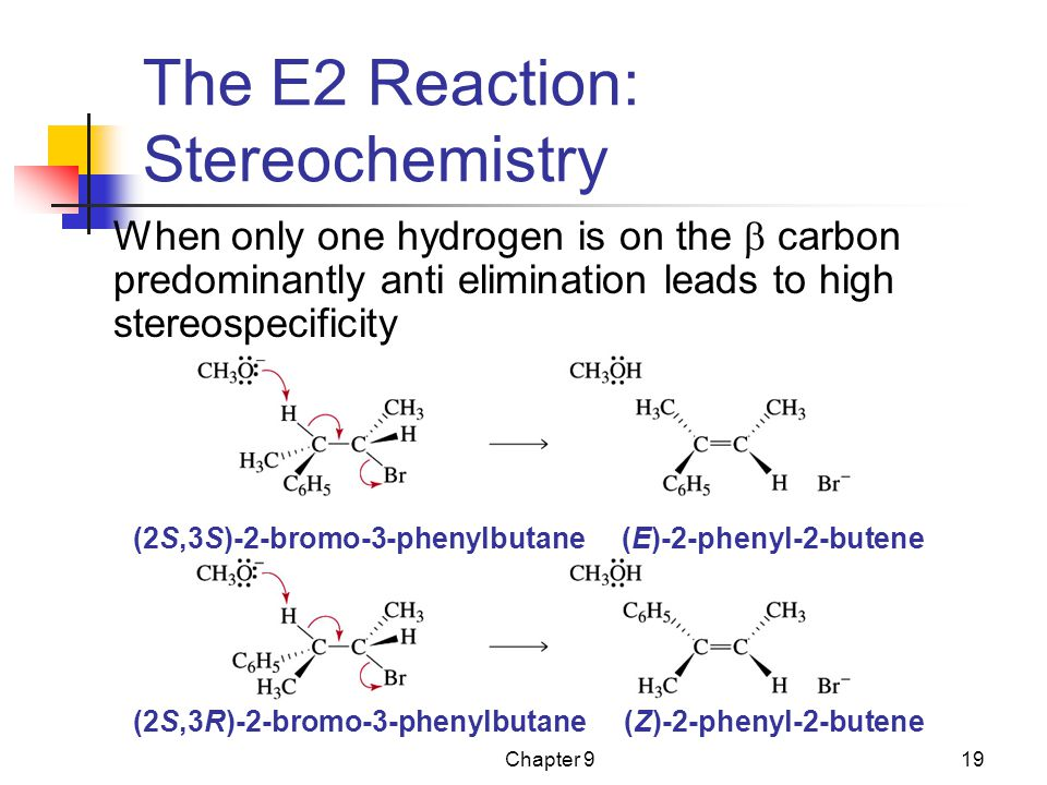 The E2 Reaction: Stereochemistry