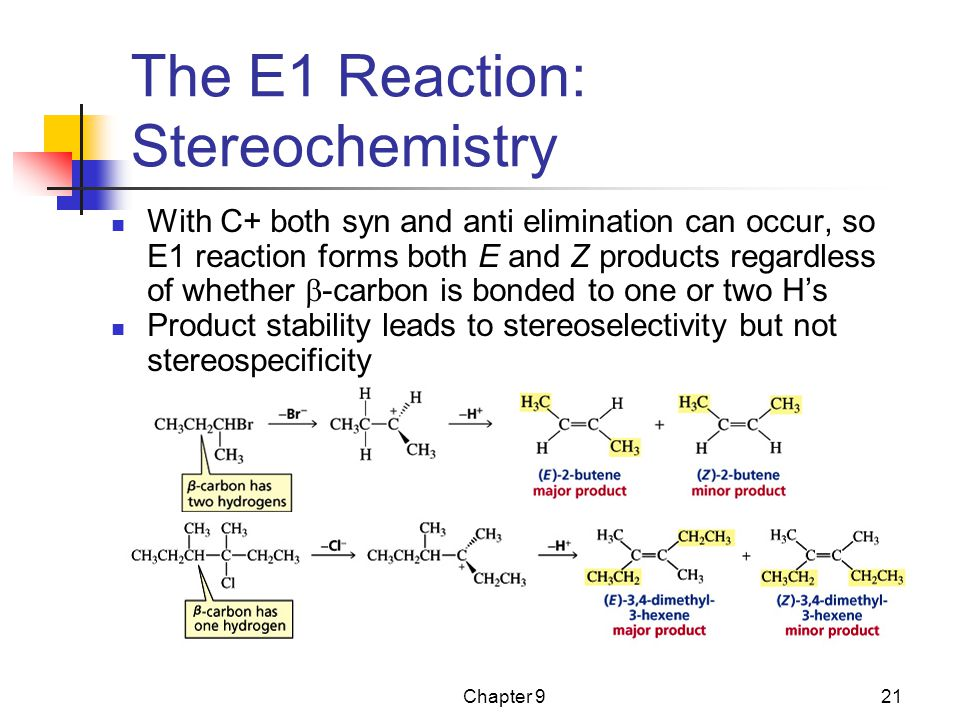 The E1 Reaction: Stereochemistry