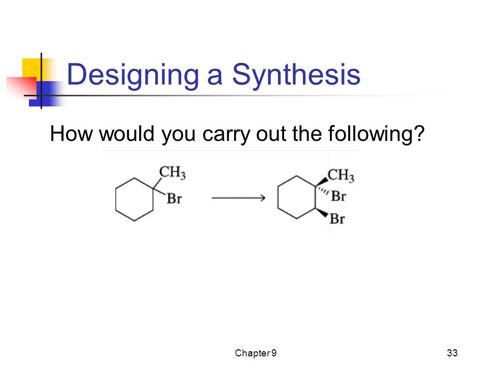 Designing a Synthesis How would you carry out the following Chapter 9