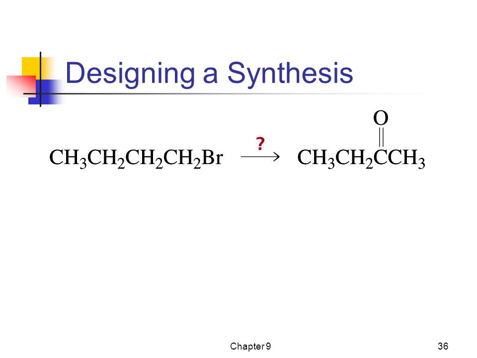 Designing a Synthesis Chapter 9