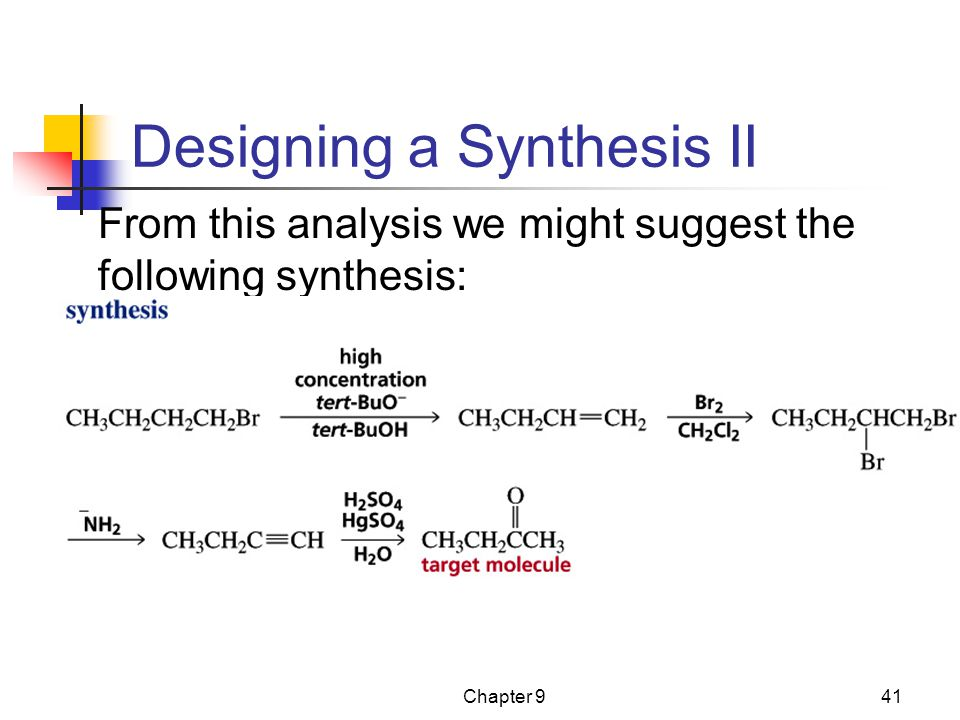 Designing a Synthesis II