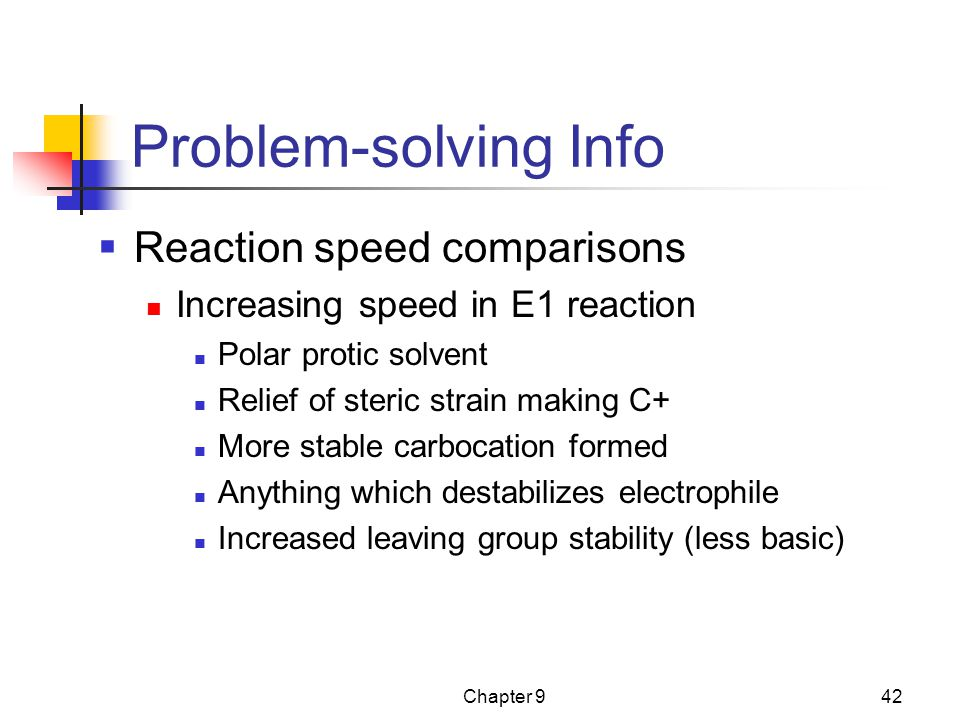 Problem-solving Info Reaction speed comparisons