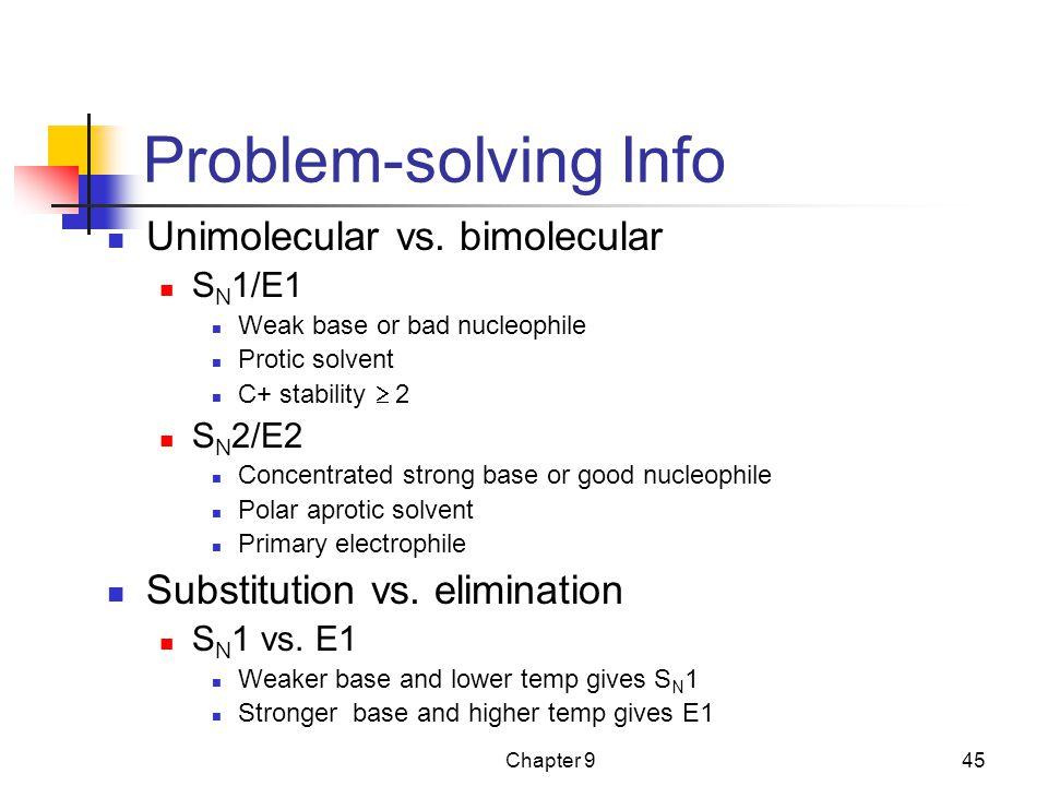 Problem-solving Info Unimolecular vs. bimolecular