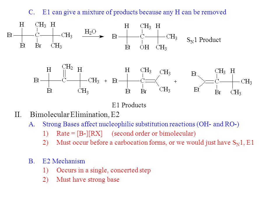 Bimolecular Elimination, E2