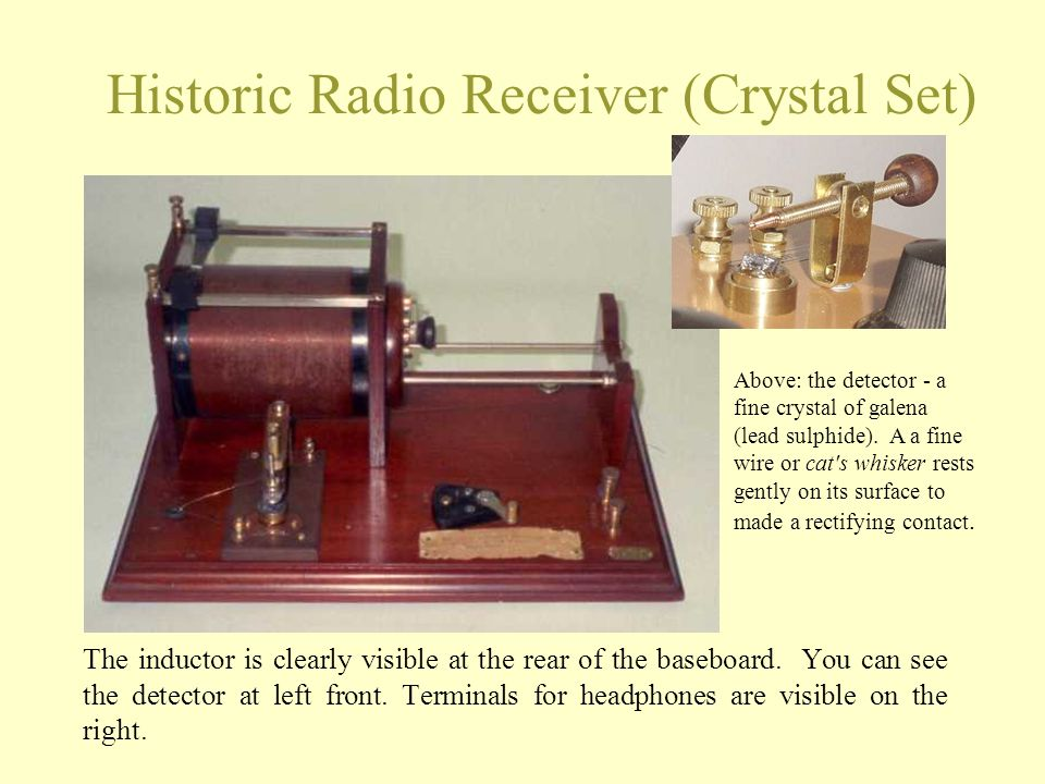 Historic Radio Receiver (Crystal Set)