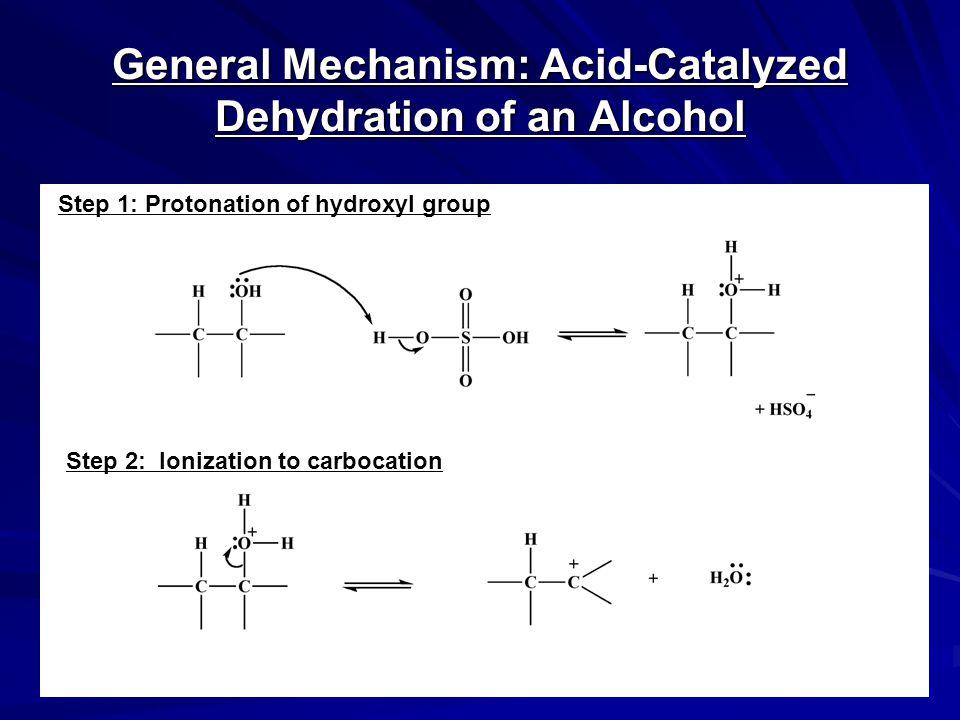 General Mechanism: Acid-Catalyzed Dehydration of an Alcohol