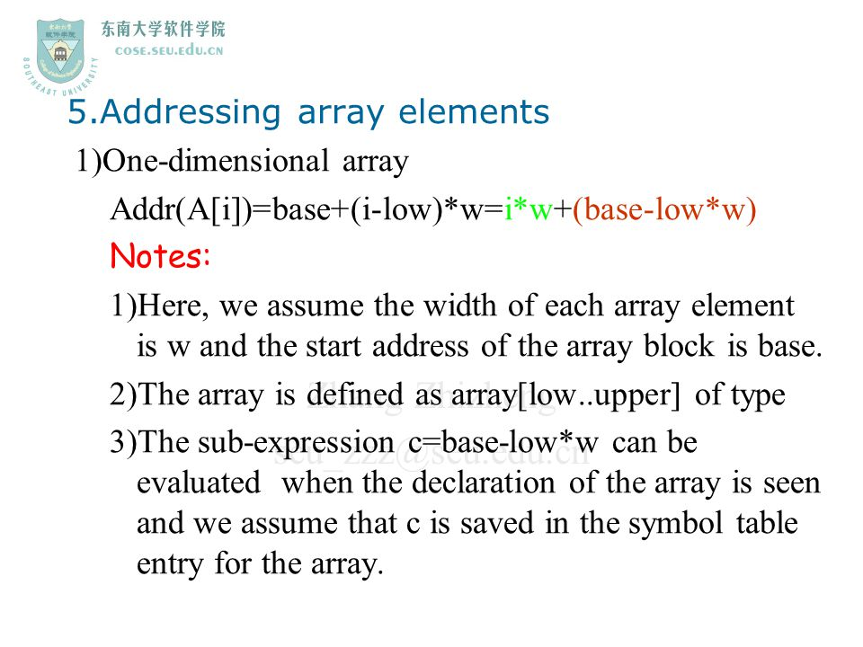 5.Addressing array elements