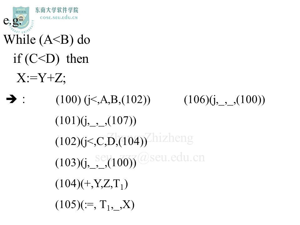 e.g. While (A<B) do if (C<D) then X:=Y+Z;