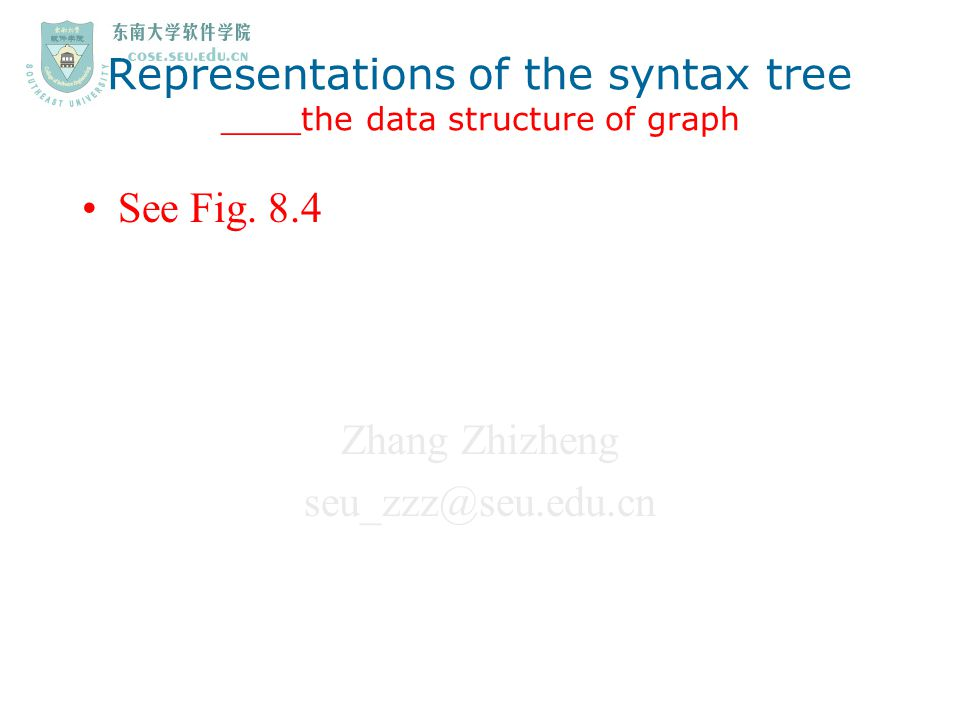 Representations of the syntax tree ____the data structure of graph