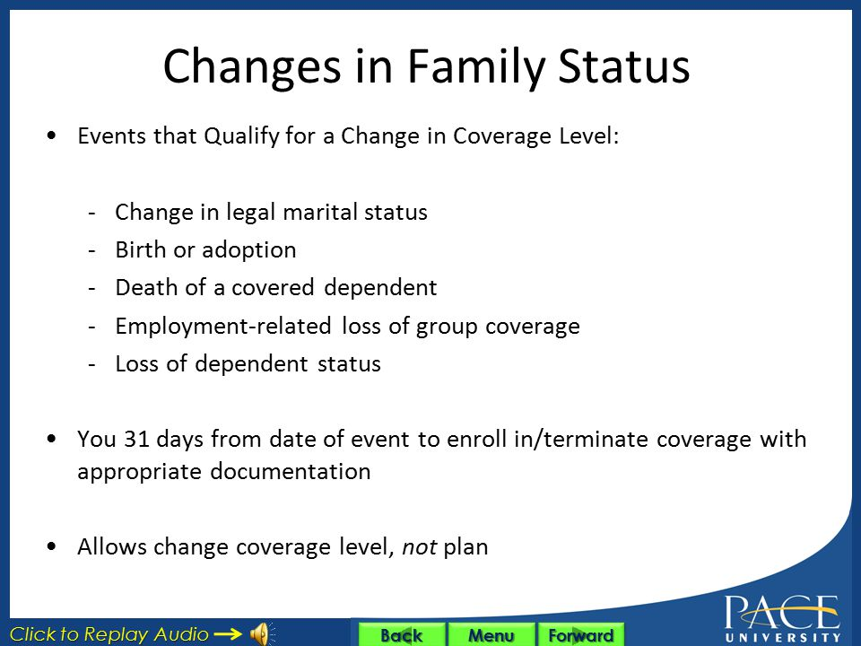 Changes in Family Status