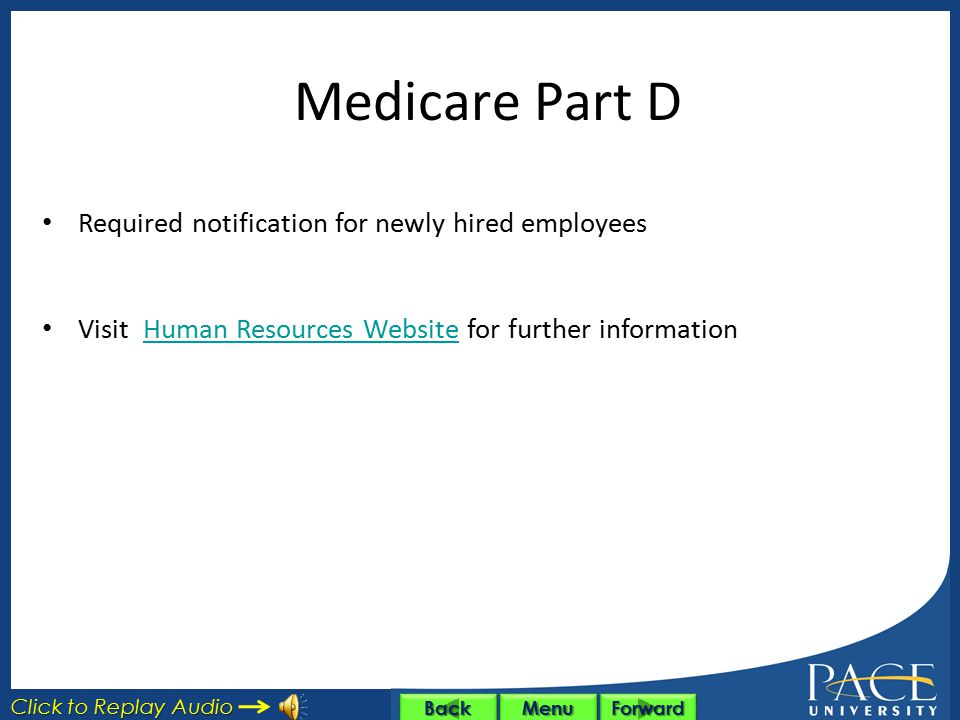 Medicare Part D Required notification for newly hired employees