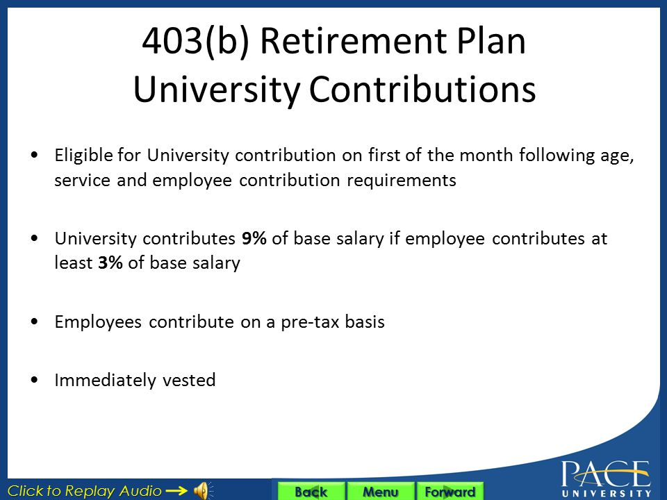 403(b) Retirement Plan University Contributions