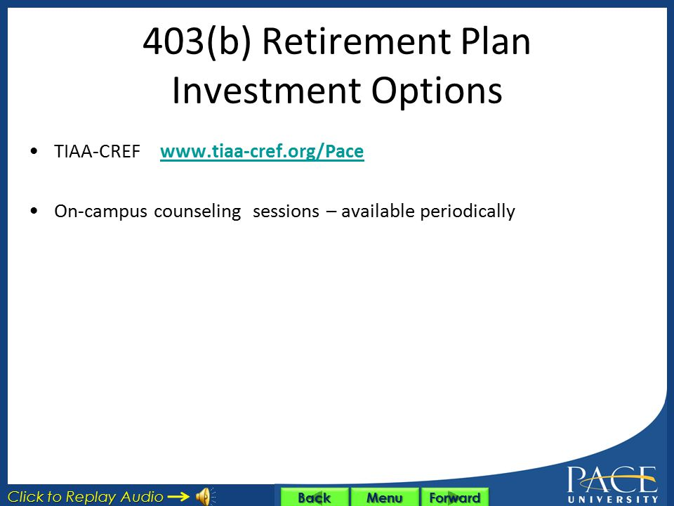 403(b) Retirement Plan Investment Options