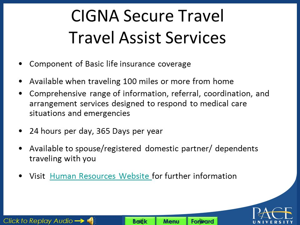 CIGNA Secure Travel Travel Assist Services