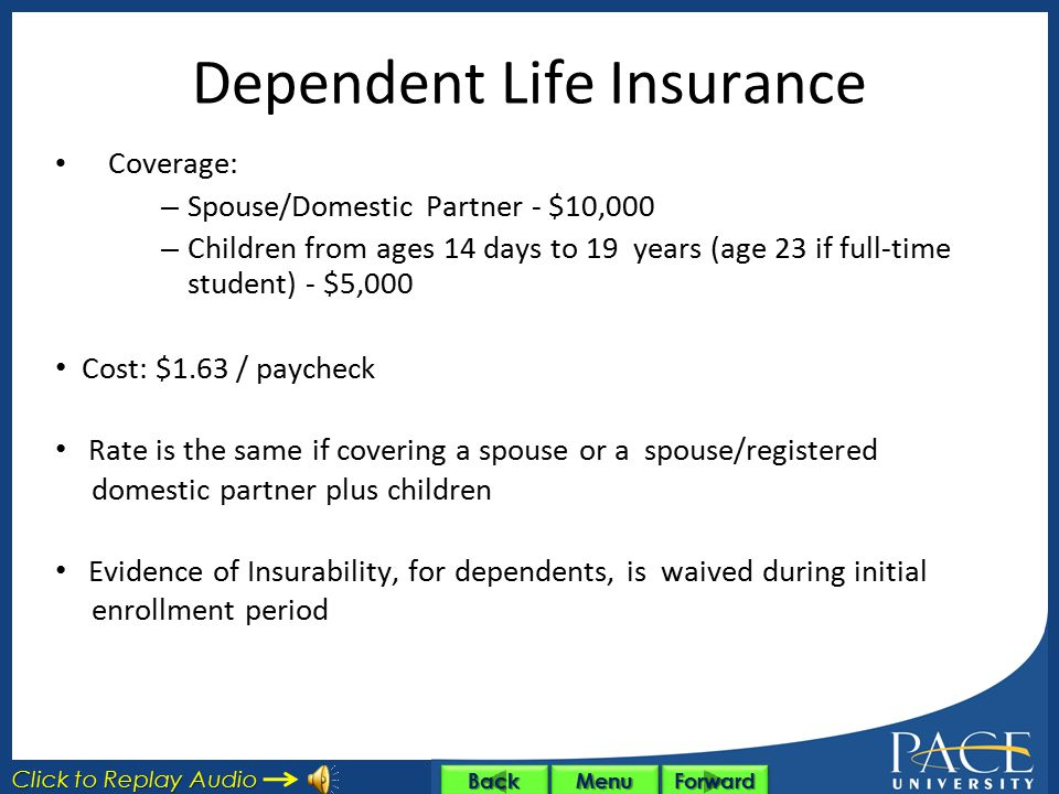 Dependent Life Insurance