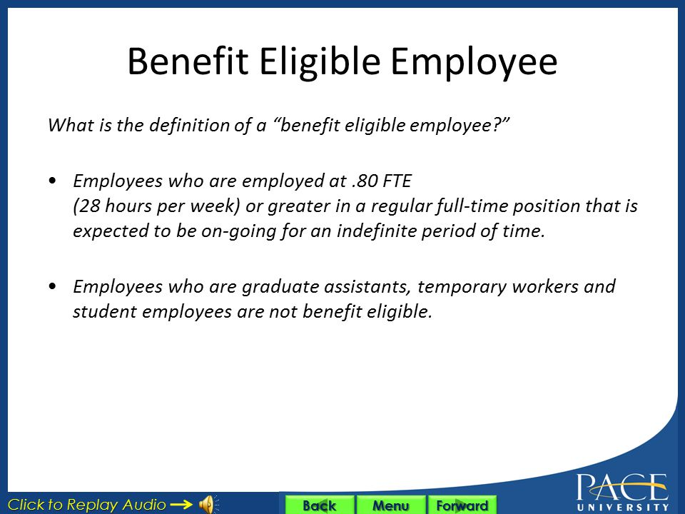 Benefit Eligible Employee