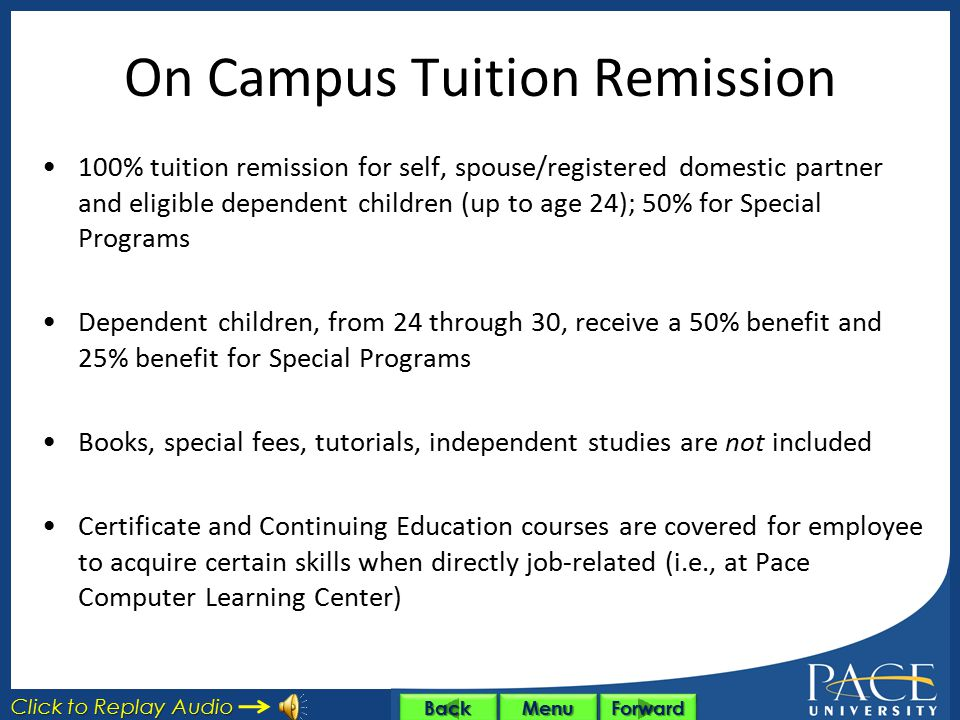 On Campus Tuition Remission