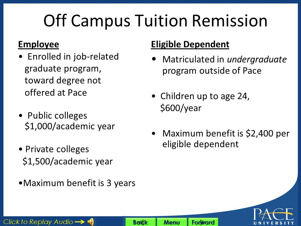 Off Campus Tuition Remission