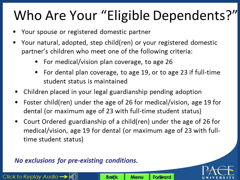 Who Are Your Eligible Dependents