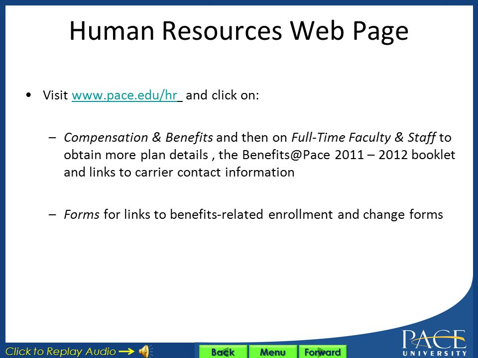 Human Resources Web Page