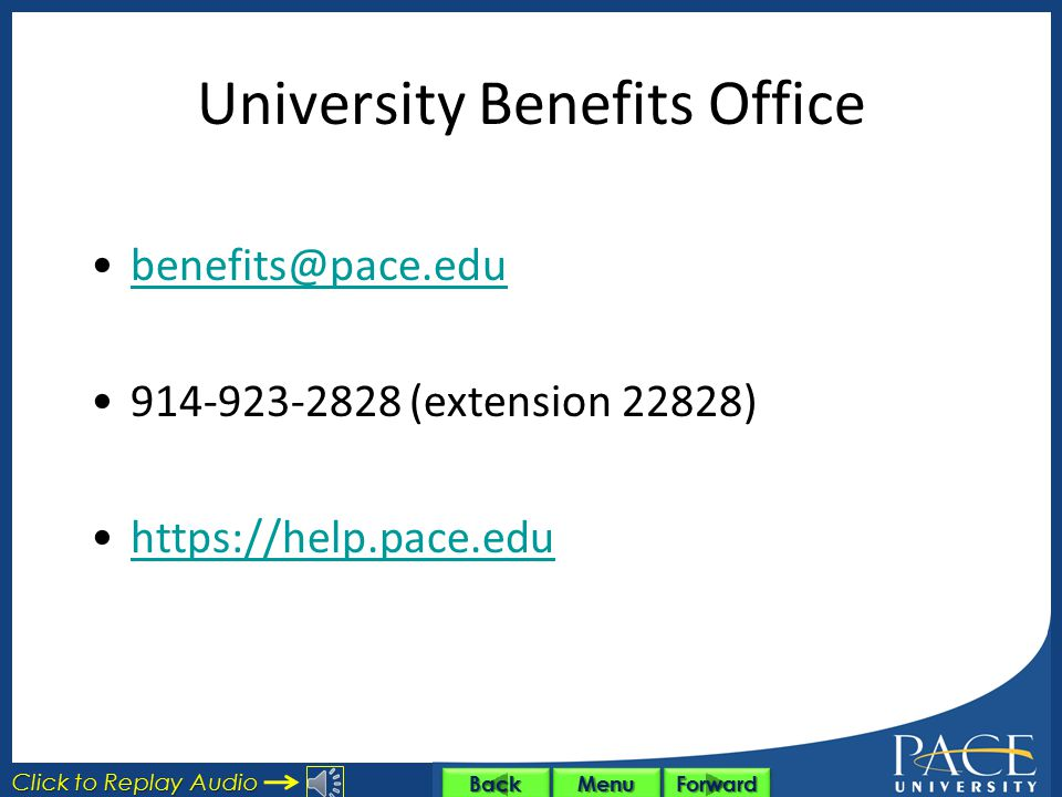 University Benefits Office