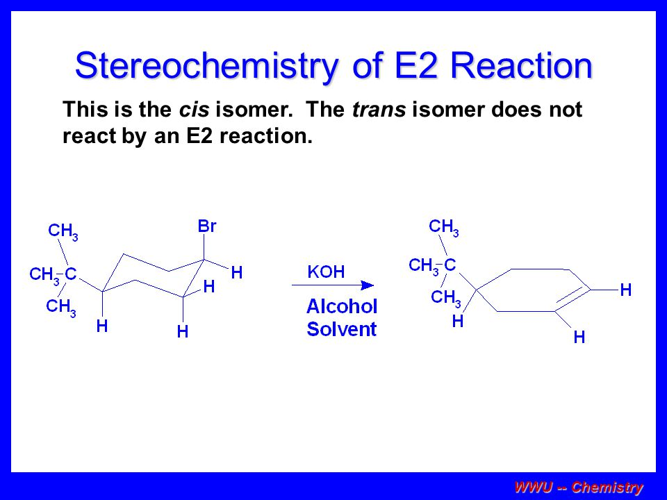 Stereochemistry of E2 Reaction