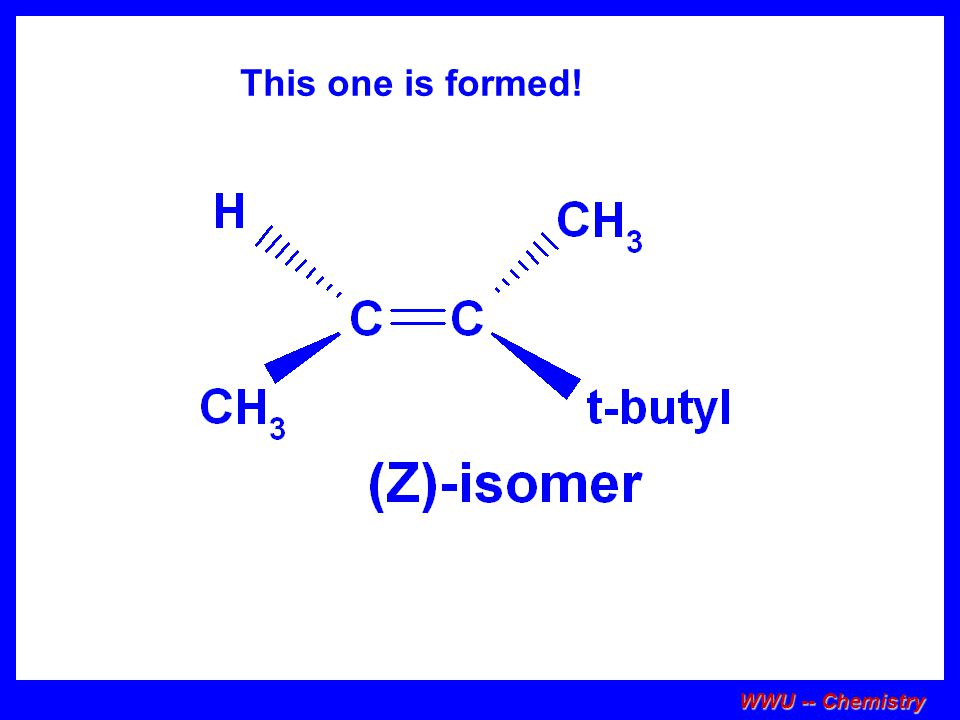 This one is formed! WWU -- Chemistry