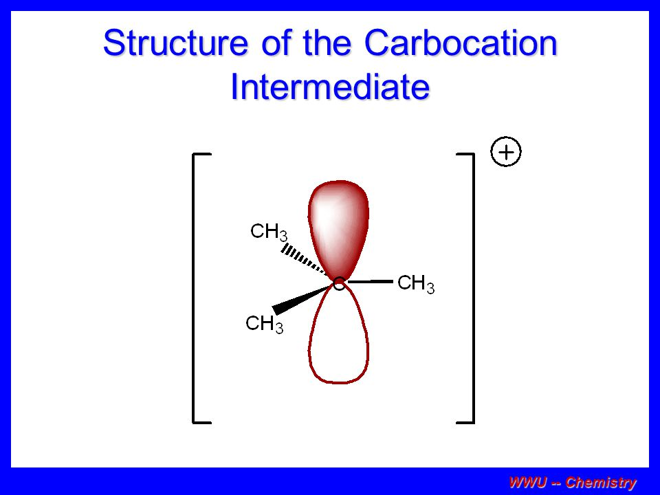 Structure of the Carbocation Intermediate