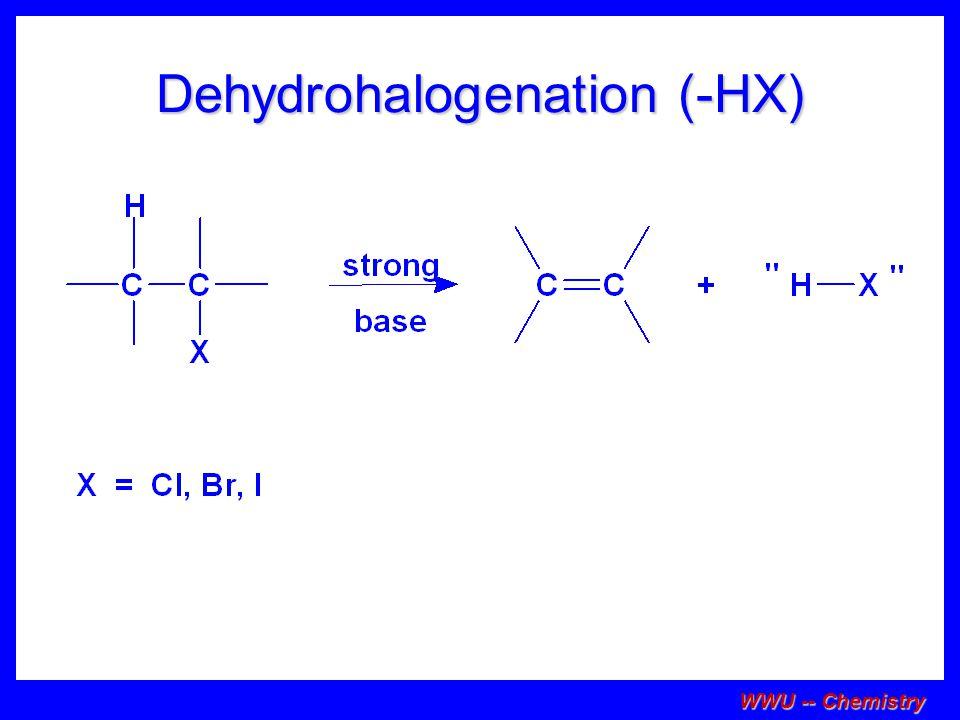 Dehydrohalogenation (-HX)