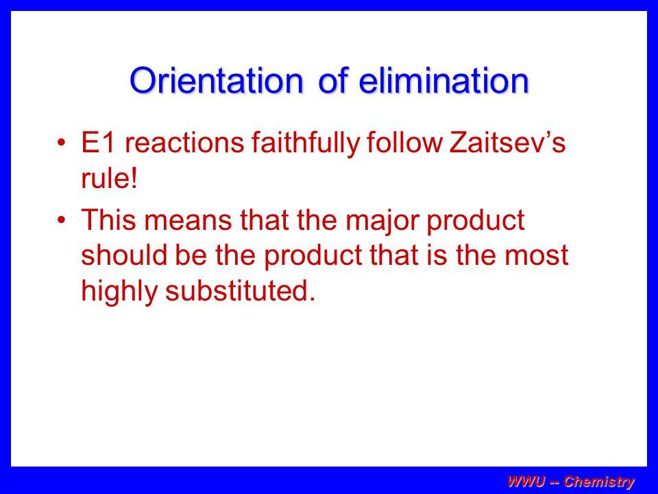 Orientation of elimination