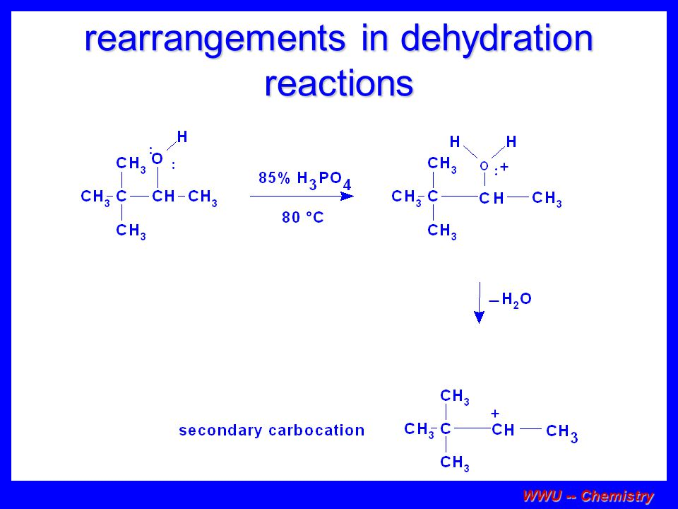 rearrangements in dehydration reactions