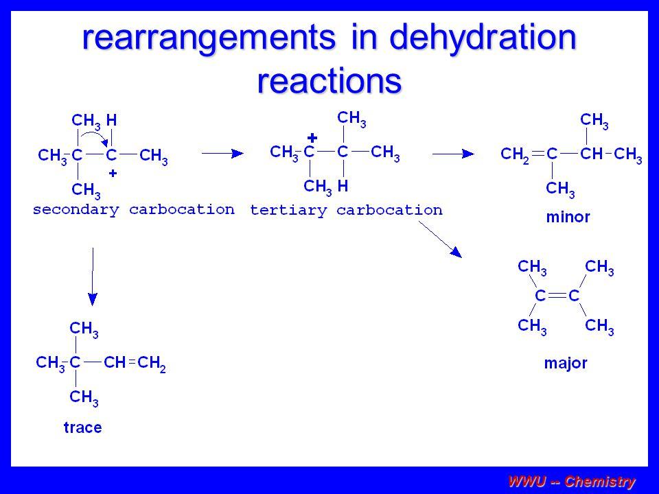 rearrangements in dehydration reactions