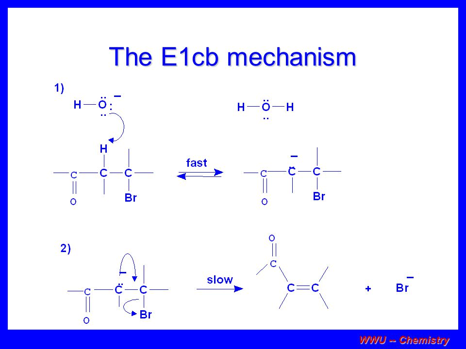 The E1cb mechanism WWU -- Chemistry