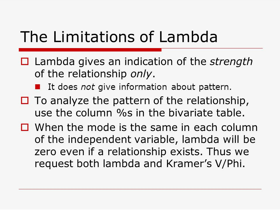 The Limitations of Lambda