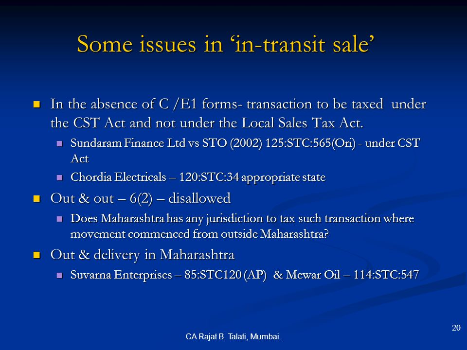 Some issues in 'in-transit sale'