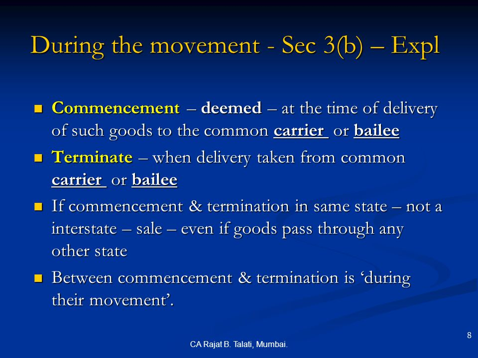 During the movement - Sec 3(b) – Expl