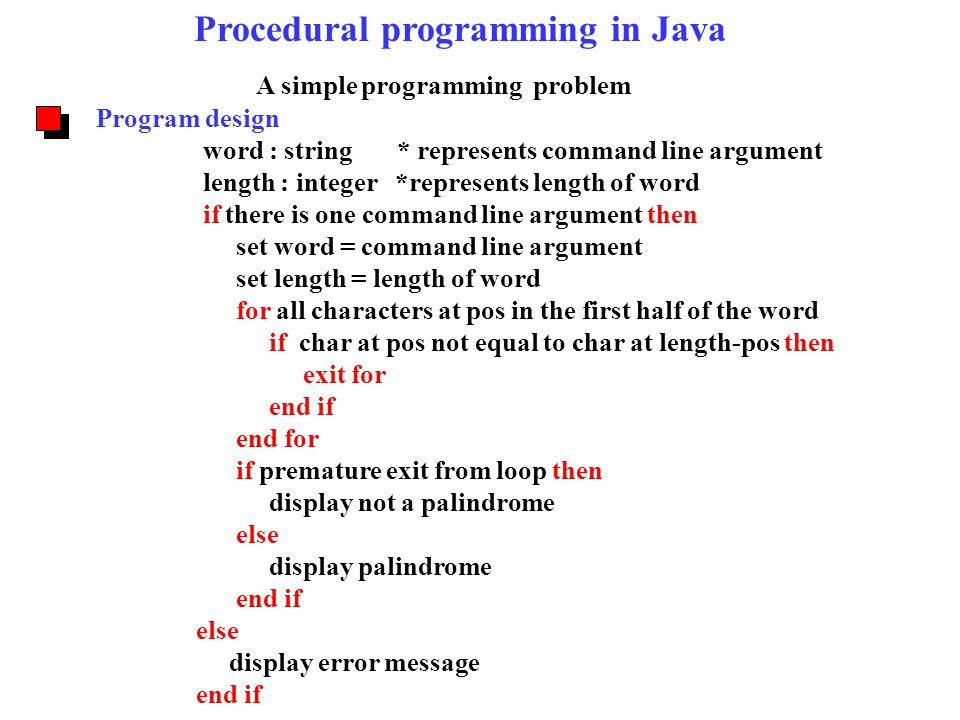 Palindrome in Java