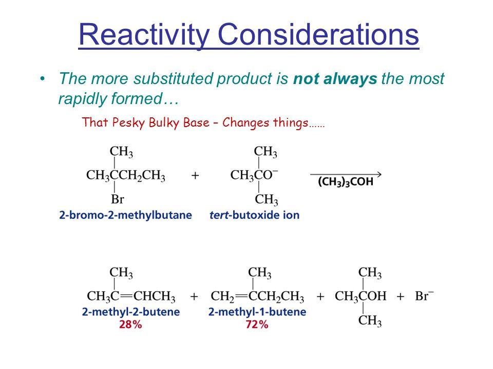Reactivity Considerations